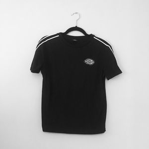 Dickies black side striped tee size s